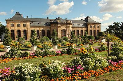 Das spätbarocke Gartenensemble der herzögliche Orangerie gehört zum Aussenstandort der  BUGA 2021in Gotha