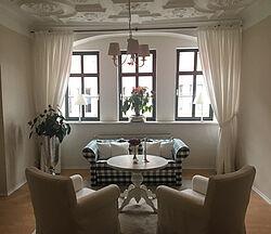 Ferienwohnung Rathausblick Wohnzimmer